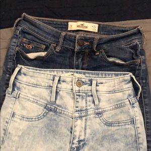 2 pairs of Hollister size 0R jeans